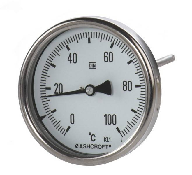 All stainless steel bimetal thermometer