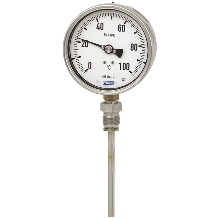 Wika Model 73 Gas-actuated thermometer Stainless steel version